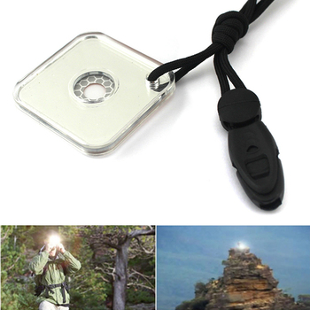 цена на Practical Outdoor Emergency Survival Reflective Signal Mirror with Whistle Outdoor tools Outdoor survival tools and equipment