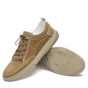 Image 5 - Zapatos de ante para hombre, zapatillas de deporte de cuero, calzado de ocio para caminar, CLAXNEO banda elástica, novedad primavera otoño 2020