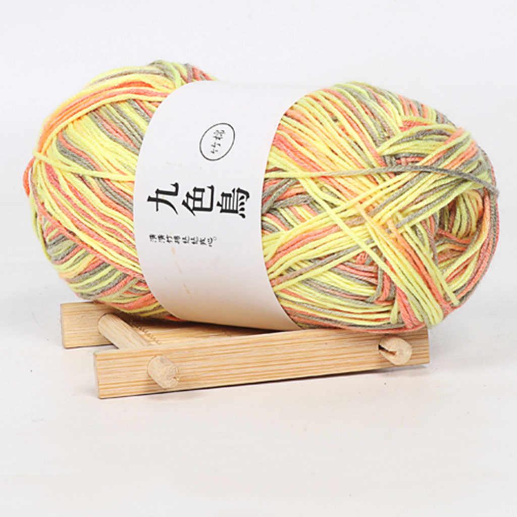Suave algodón de carbón de bambú línea de bebé de lana fina de ganchillo DIY niños de hilo de algodón bufanda calcetín de regalo DIY-Hilo de Tejer # BL5