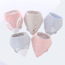 Baby autumn and winter baby velvet cartoon three-dimensional triangle towel thick slobber childrens cotton bib
