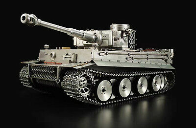 High Simulation 100% Metal HengLong 1/8 Scale German Tiger I RTR RC Tank Model 3818 TH16450