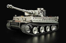 Hohe Simulation 100% Metall HengLong 1/8 Skala Deutsch Tiger ICH RTR RC Tank Modell 3818 TH16450(China)