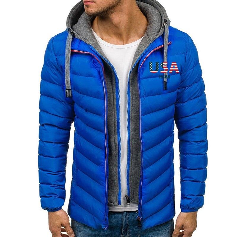 Zogaa homem inverno 3d eua bandeira impressa jaqueta casacos casuais grossos com capuz casacos streetwear inverno casaco de inverno dos homens roupas de inverno parkas