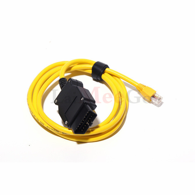 Newest For BMW F Series ENET Ethernet to OBD Interface Cable E-SYS ICOM OBD2 Coding Programming Without CD ESYS ICOM Data cable