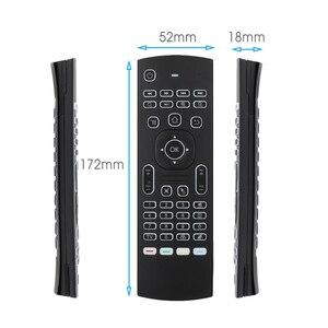 Image 4 - MX3 スマート音声リモートコントロールエアマウスバックライト MX3 2.4 2.4G RF ワイヤレスキーボード Ir ラーニングアンドロイド 9.0 テレビボックス X96 H96 最大