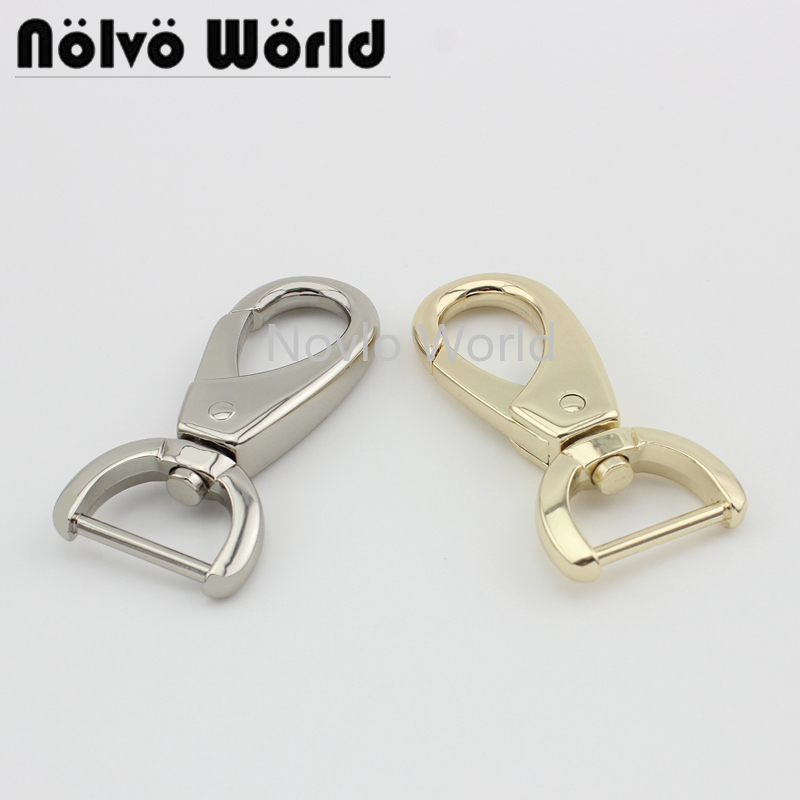 Wholesale 500pcs,4 Colors Accept Mix Color,61*20mm 3/4 Inch,metal Buckle Bag Key Chain Lobster Buckle Swivel Clasp Hook Hardware