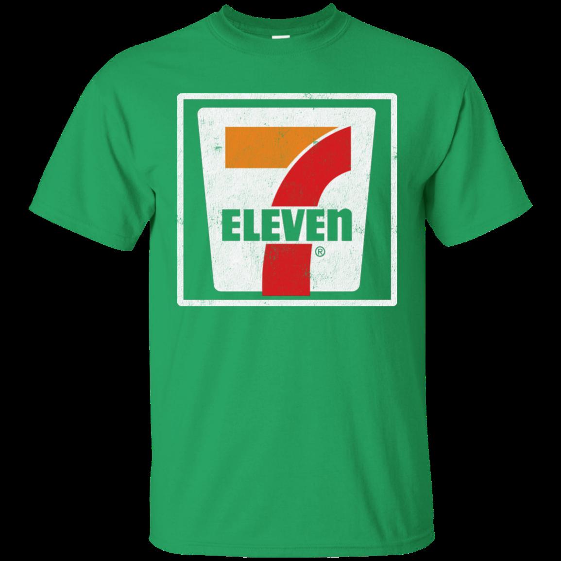 7 11 Seven Eleven Retro Distressed Logo T Shirt