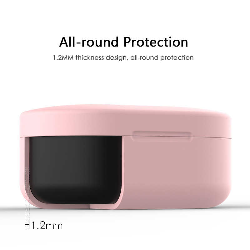 Xiaomi MI Redmi AirDots 헤드폰 커버 용 실리콘 이어폰 케이스 TWS Bluetooth 이어폰 무선 헤드셋 쉘