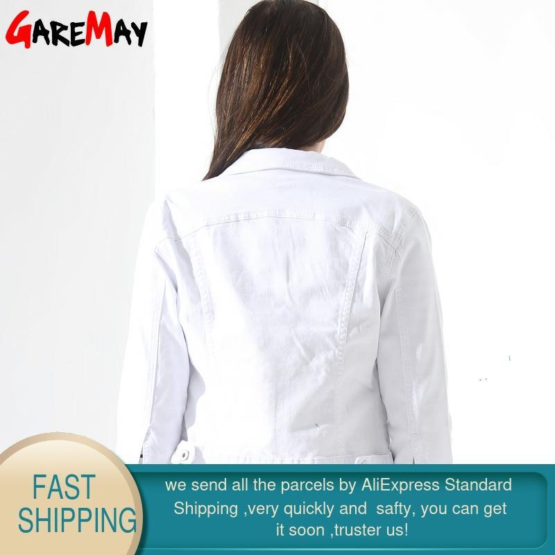 GAREMAY Basic Jeans Jacke Frauen White Spring Woman Denim Denim Damen - Damenbekleidung - Foto 2