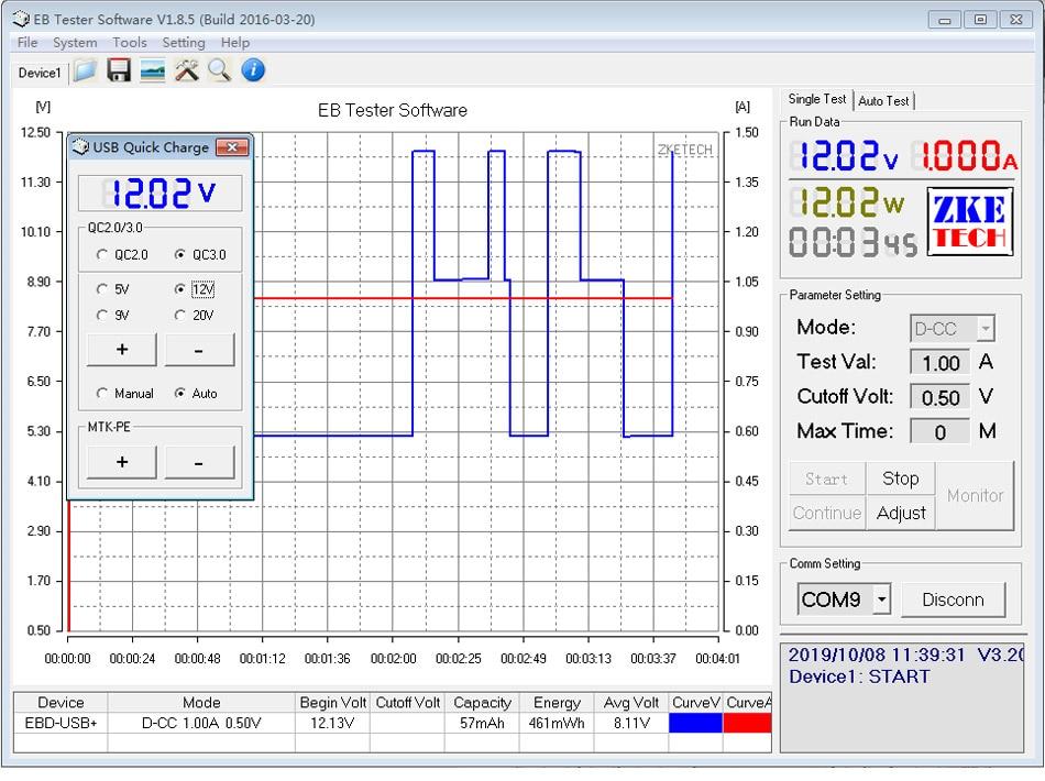 Számítógépes szoftverek online USB teszter DC kisülési - Mérőműszerek - Fénykép 6