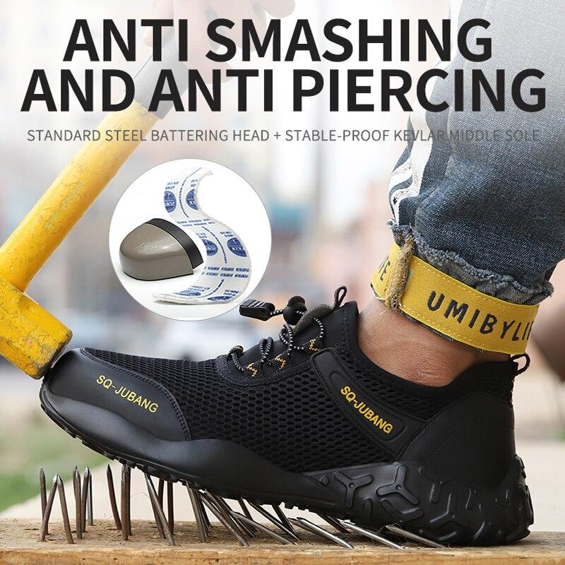 MWSC/Летняя дышащая мужская Рабочая безопасная обувь; Мужская обувь со стальным носком; Рабочая обувь; Мужская Рабочая обувь; Кроссовки