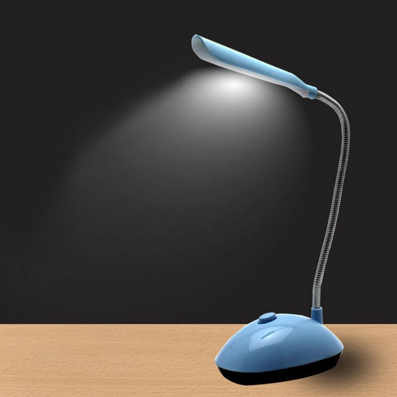 Eye-Protection Table Light Mini 4 LEDs Desk Lamp AAA Battery Powered 360 Degree Rotation High Lumen Flicker-Free Table Lamp
