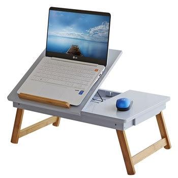 Laptop lazy desk bed solid wood desk simple modern dormitory folding table