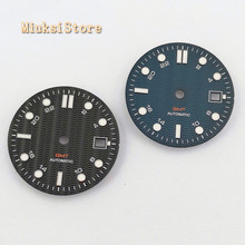 1PCS 31.5mm סטרילי כחול שחור שעון חיוג Fit ETA 2836/2824 DG2813/3804 Miyota 8215 821A 8205 אוטומטי תנועה P934 N