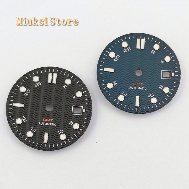 1PCS 31.5mm sterile สีฟ้าสีดำนาฬิกา Dial Fit ETA 2836/2824 DG2813/3804 Miyota 8215 821A 8205 อัตโนมัติการเคลื่อนไหว P934 N