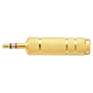 Image 3 - Mayitr Convertidor de adaptador de enchufe a Jack 3,5, 1 unidad, 1/8mm, 6,35 macho a 1/4mm, 3,5 hembra, Adaptador de Audio estéreo, 6,35