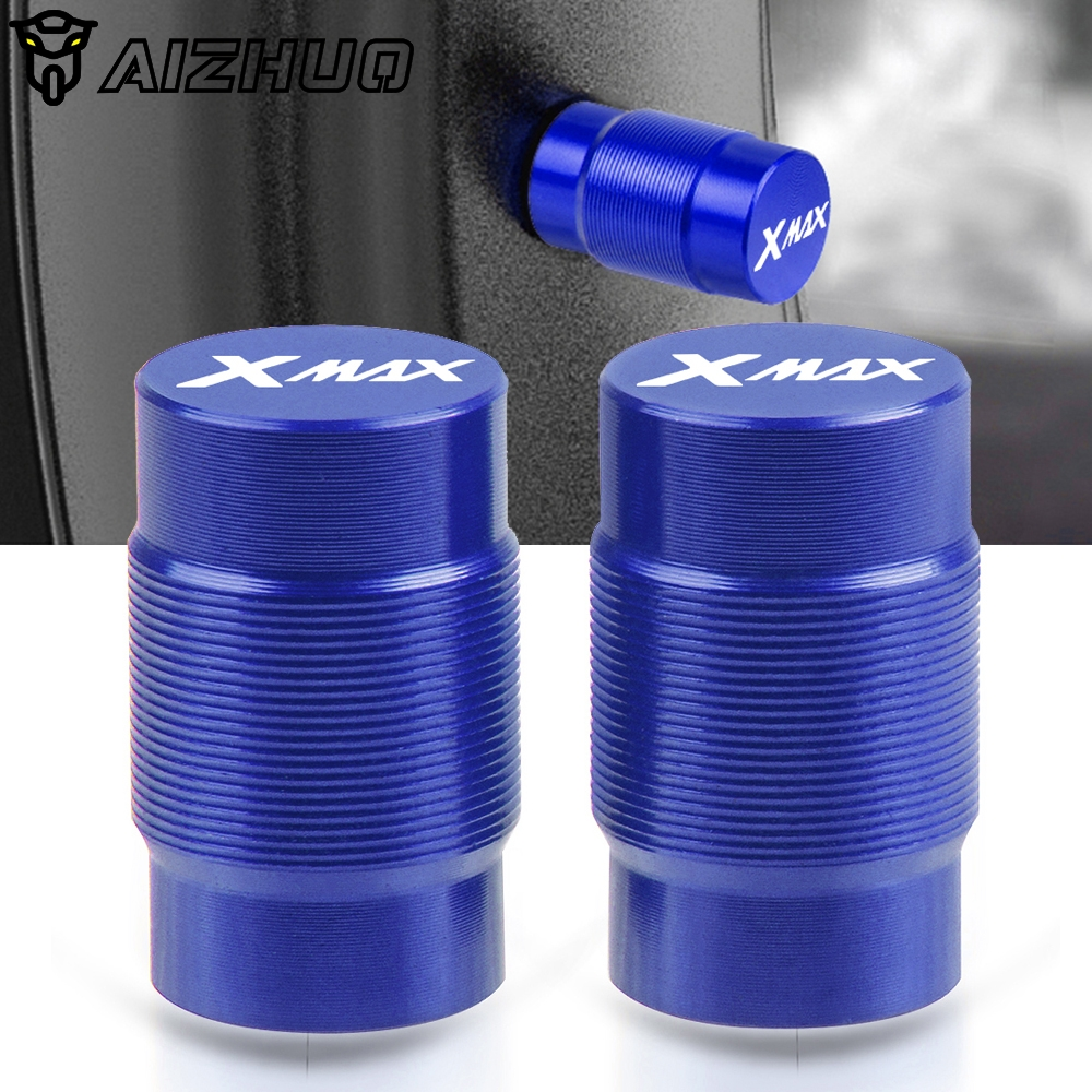 Wheel Tire Valve Caps CNC Aluminum Airtight Covers Motorcycle Accessories For <font><b>YAMAHA</b></font> <font><b>XMAX</b></font> 250 300 <font><b>400</b></font> X MAX X-MAX 2017-2019 image