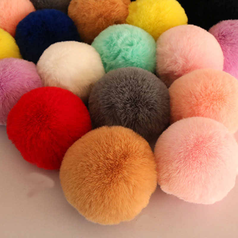 كبيرة الحجم 7-10 سنتيمتر كبيرة كُرات فراء ريشيّة بوم بوم بوم الكرة الفراء الطبيعي بوم بوم ل قبعة الأوشحة اليدوية لتقوم بها بنفسك لوازم الخياطة الحرفية