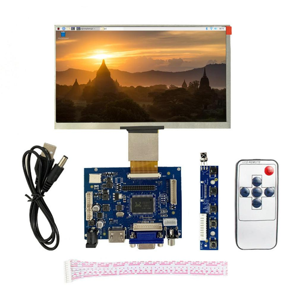 7 Inch LCD Screen Display Monitor + Driver Board HDMI/VGA/2AV For Raspberry Pi Jetson Nano Windows
