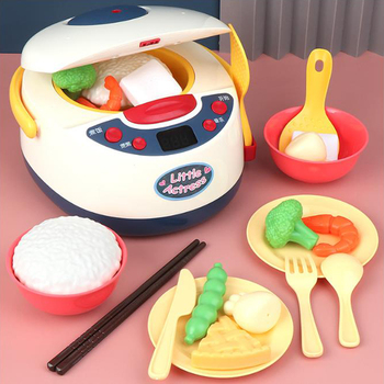 Kitchen Kids Toys Simulation Electric Rice Cooker Interactive Toy Mini Kitchen Food Pretend Play House Role Playing Girls Toys mini simulation kid cute microwave oven pretend role play toy educational for children role playing kitchen toys playing house