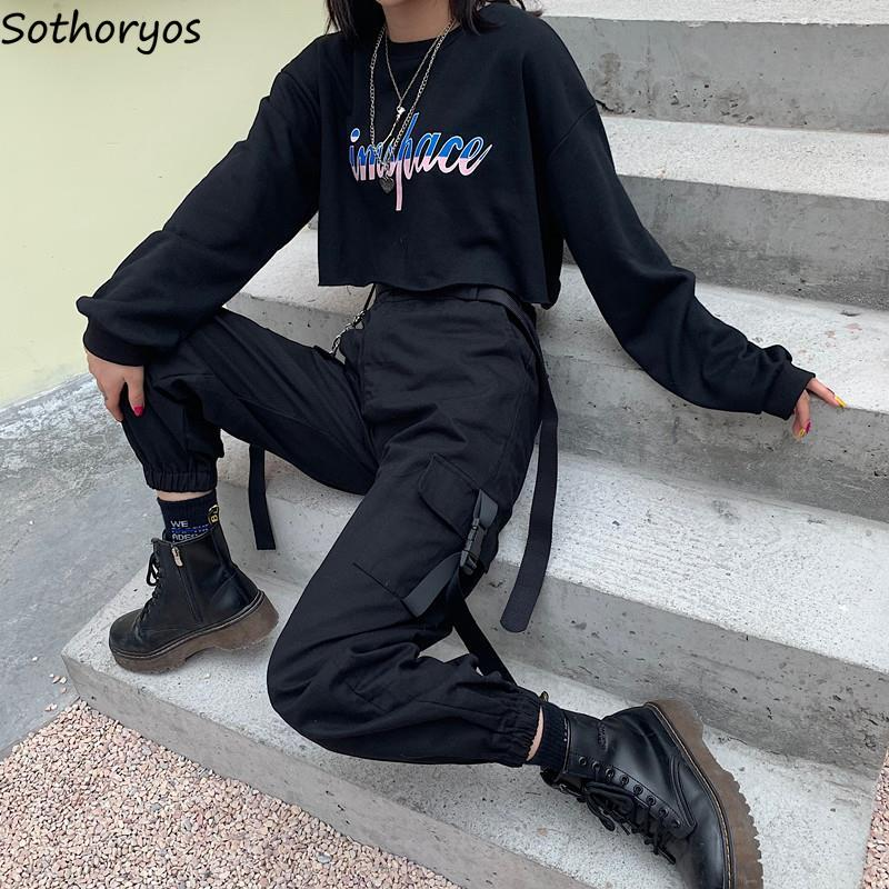 Cargo Pants Women BF Unisex Streetwear Hip-Hop Harajuku Womens Trousers All-match Loose Chic 2XL Loose High Waist All-match New