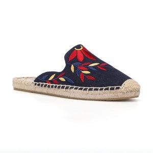 Image 3 - 2019 トップ直接販売麻夏ラバープリント Terlik ミュールスリッパ屋台 Soludos サンダルスリッパ靴