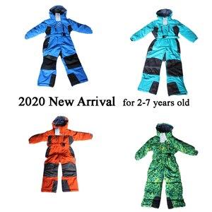 Image 2 - Marka Kids Snowsuit  30 Winter Baby Girl Boy kombinezon narciarski 10 12 wodoodporna kurtka snowboardowa odzież sportowa dziecięca odzież wierzchnia