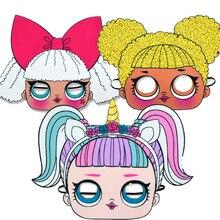 LOL sorpresa muñecas fiesta máscaras diferentes estilos celebración temas suministros figuras Anime actividades al aire libre regalo para niños
