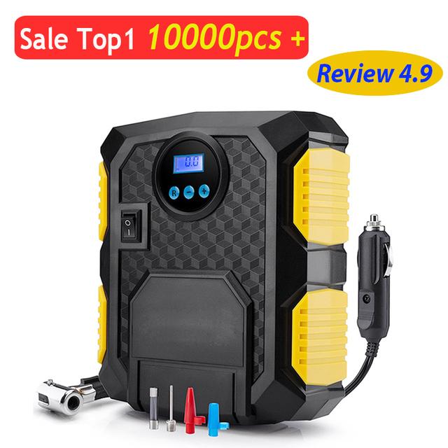 Digital Tire Inflator DC 12 Volt Car Portable Air Compressor Pump 150 PSI Car Air Compressor for Car, Motorcycles, Bicycles