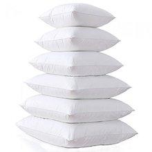 Branco casa almofada interior de enchimento algodão-acolchoado travesseiro núcleo para sofá carro macio travesseiro inserção almofada núcleo embalagem a vácuo