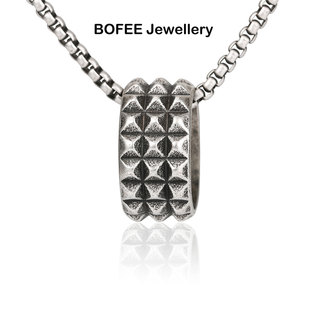 mens stainless steel ring necklace gift jewelry