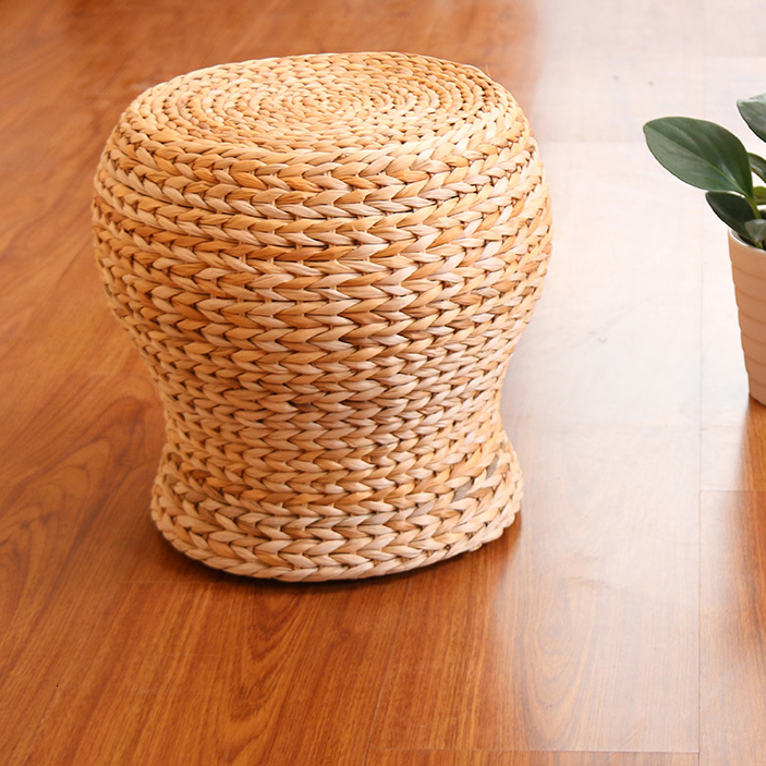 Eye Warming Straw Weaving Manual Weave Sit Pier And Bay Sit Stool Sofa Side Stool Feet Changing Shoes Stool A Living Room