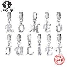 Jiayiqi A Bis Z Brief Charms 925 Sterling Silber CZ Perlen Fit Frauen Charms Silber 925 Original DIY Schmuck Geschenk, der