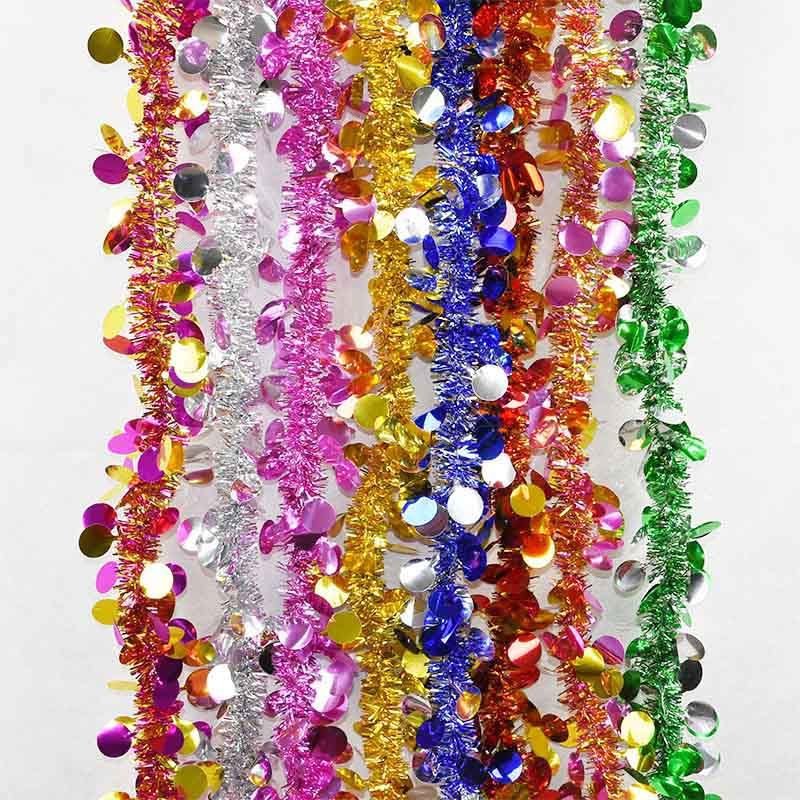 Wedding Garland Christmas Tree Decoration Ribbon Ornament Wire Hanging Rattan