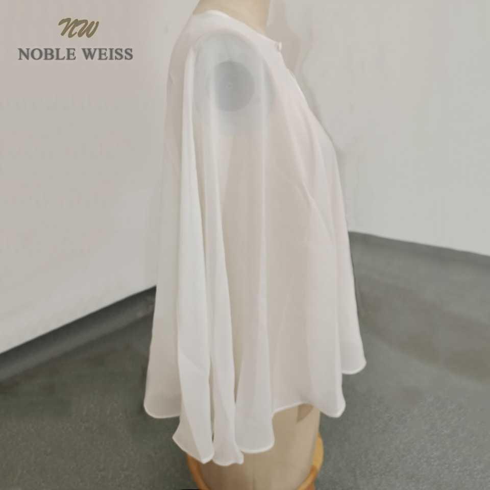 Boleros feminino de chiffon, casamento jaquetas formais tamanho grande branco