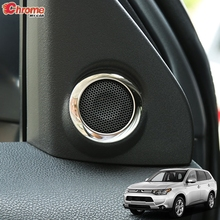 For Mitsubishi Outlander 2014 2015 2016 2017 2018 2019 Chrome Interior A Pillar Stereo Speaker Cover Trim Decoration Car Styling