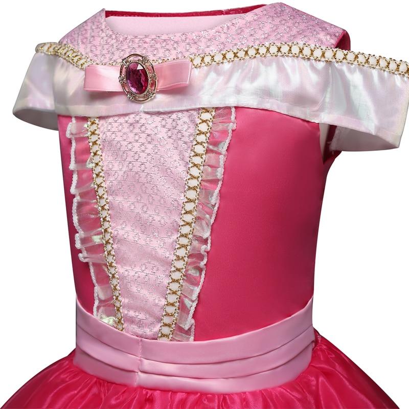 Girl Clothing Sleeping Cosplay Princess Carnival Halloween Costume Girl Party Dress Beauty Christmas 4 8 10 Years 4