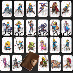 23PCS NTAG215 Game NFC Cards New 4 Hero Data Tag 20 heart Wolf Link For NFC Tag Zelda Breath Of The wild NS Switch