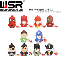 usb2.0 pen drive 32gb mini the avengers model high speed usb key 8gb 16gb real capacity 64gb flash disk 128gb free delivery gift