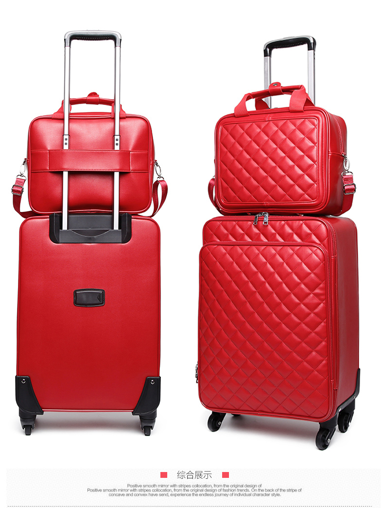 Luggage Travel Bag Unisex 24 Inch Brushed Trolley Case Luggage Lightweight Suitcase Wear-Resistant Scratch-Resistant Hard Case Qzny Suitcase Color : A, Size : 412560cm