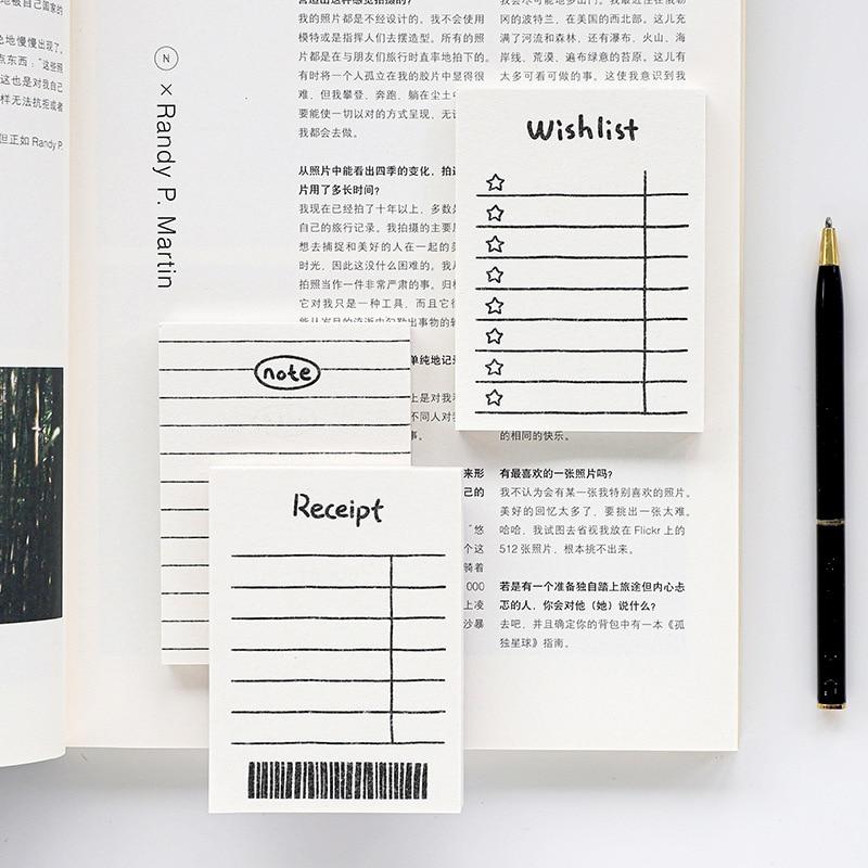 50 folhas nota pegajosa diário para fazer planner fazer listas bloco sortido bloco de notas