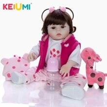 19 inch SIlicone Full Body Reborn Babies Doll Bath Toy Lifelike Newborn Princess Baby Doll Boneca Bebes Reborn Menina Kid Toy недорого