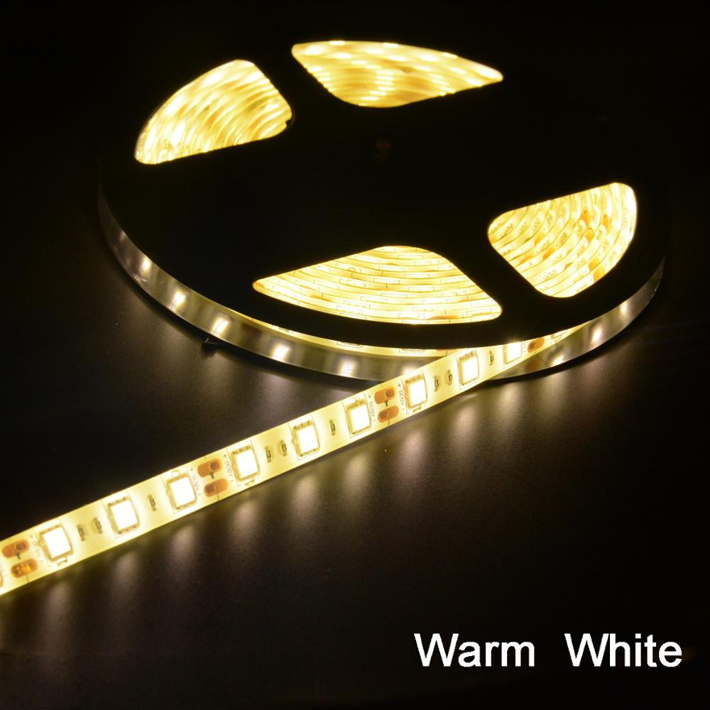 DC12V Flexible 5050 LED Strip Light 60leds/m Waterproof /no Waterproof LED Ribbon Tape Home Car Motor RV Decor 1M 2M 3M 4M 5M
