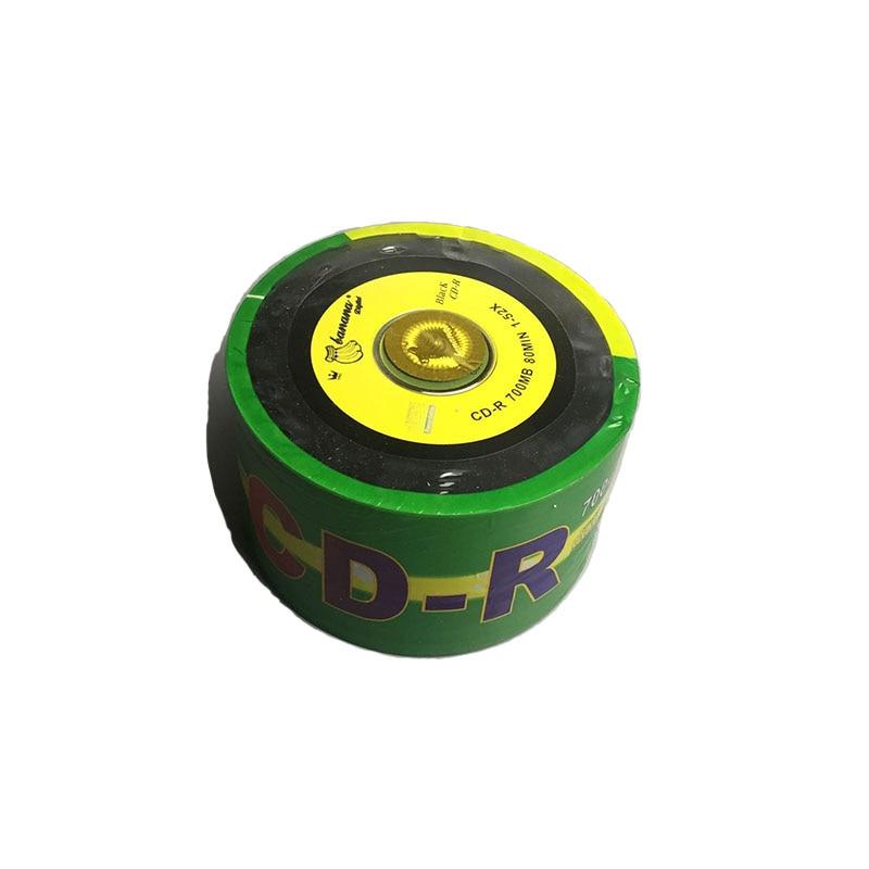 50pcs/lot Blank DJ Black Printed CD Drives CD-R Disks Bluray 700MB 80min 52X Branded Recordable Media Disc Spindle Write 5