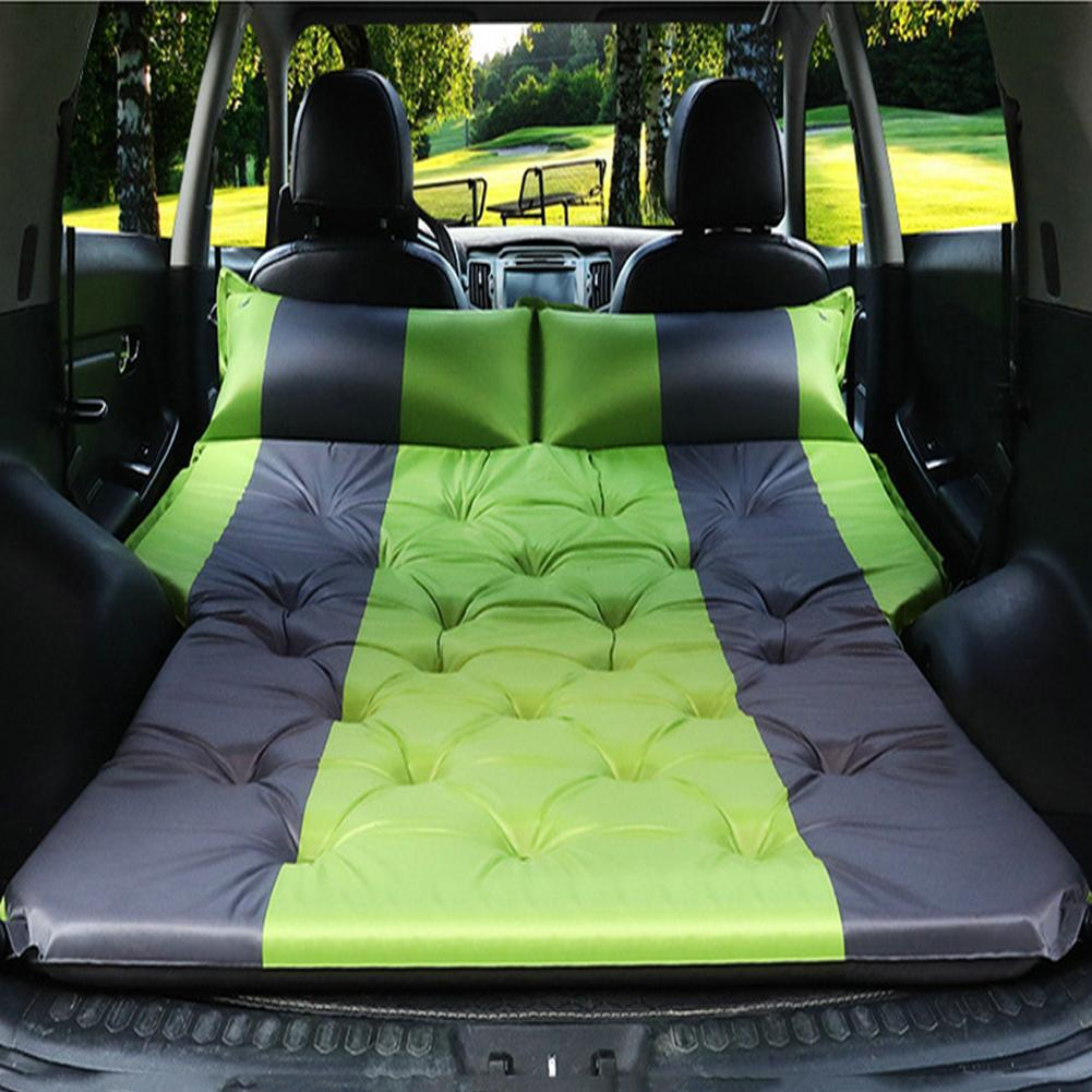 Car Air Inflatable Travel Mattress Auto Blow Up Camping Bed Outdoor Air Mattress Raised Airbed In The Car