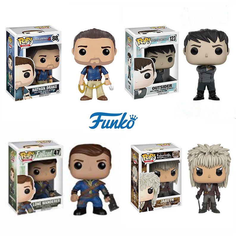 FUNKO POP Fallout Vault Boy Labyrinth Jareth Dishonored: Death Of The Outsider Action Figures Model Doll Toys For Birthday Gifts
