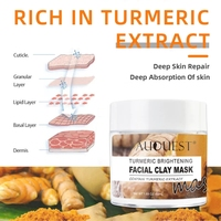 Auquest Turmeric Clay Mask Deep Cleansing Acne Exfoliating Facial Mask Moisturizing Whitening Face Cosmetics Beauty Skin Care 3
