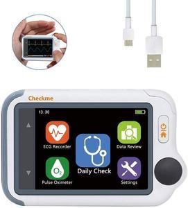 Image 1 - Monitor portátil dos sinais vitais viatom checkme lite oxímetro de pulso handheld com app & relatório do pc, ecg/eckg monitor
