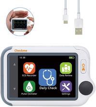 Oxymètre de pouls Portable avec rapport APP & PC, moniteur ECG/EKG moniteur de signes vitaux Portable Viatom Checkme Lite