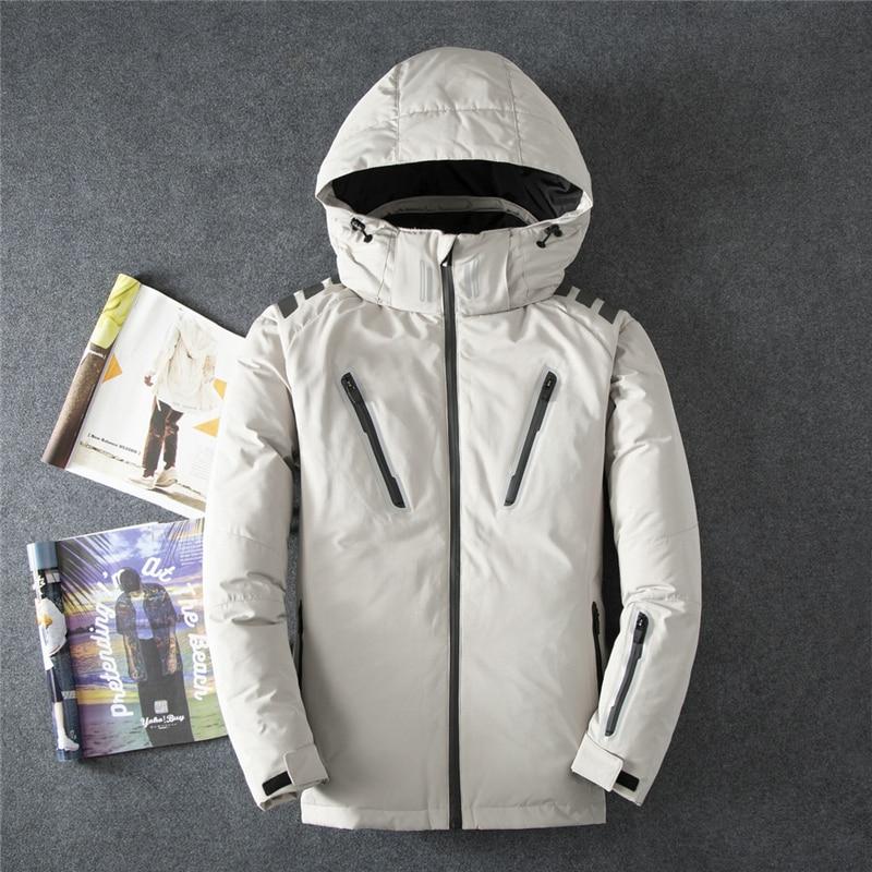 Mens Outerdoor Hooded 90% Duck   Down   Jackets Man Thick Winter   Down     Coats   Male Fashion Warm Keeper Puffer Outerwear JK-8011
